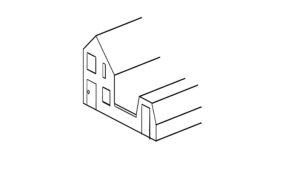 Dieptelijnen van een 2D-huis