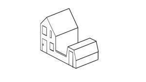 Een huisje in 3D