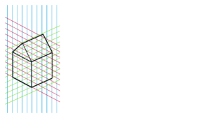 Een isometrische tekening