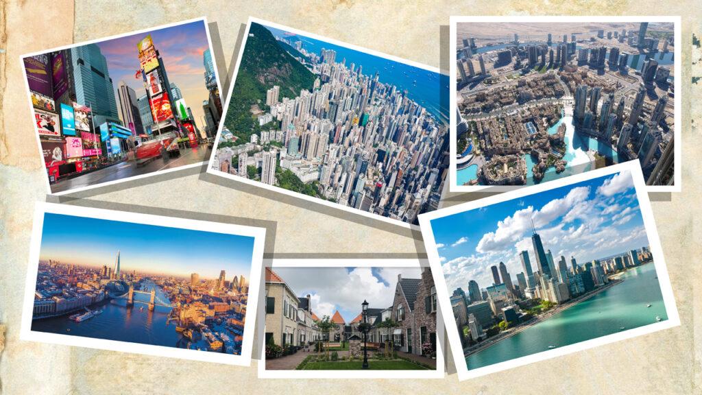 Skylines van wereldsteden