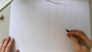 Het raster van een driepuntsperspectief