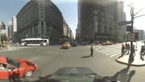 Een projectie in Google Streetview