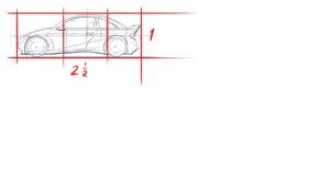 Het 2D-aanzicht van mijn auto